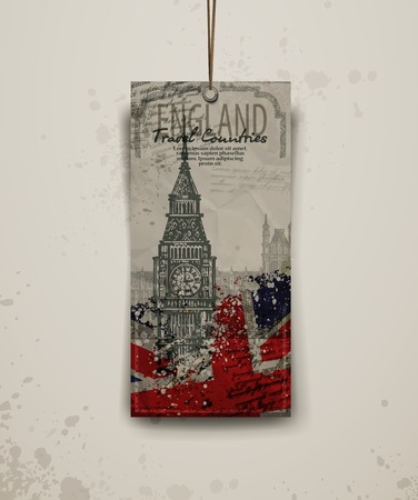 elizabeth tower: background. abstraction. Tower of London and Big Ben. Vector format