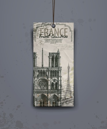 notre: Notre Dame cathedral. vector illustration. vector format