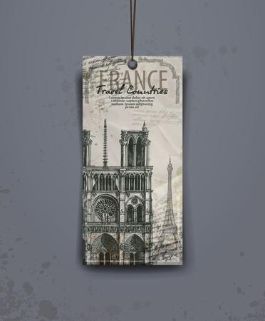 notre: Notre Dame cathedral. vector illustration. vector format