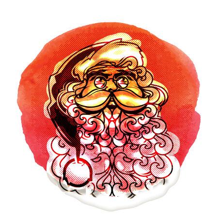 new year's cap: Santa Claus icon