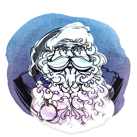 Santa Claus symbol isolated on white background Vector