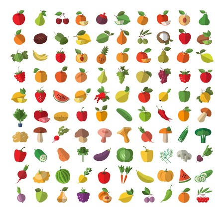 Harvest. A collection of colorful characters. Vector illustration