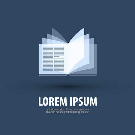Making a icon with an open book. Vector illustration Ilustracja