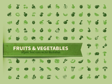 onion rings: food. fruit and vegetables icon set Illustration