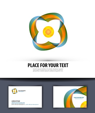 spun: The symbol of the company. Colored ribbons spun in a circle. vector illustration Illustration