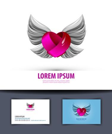 romance: Romance symbol. Design wedding invitation. vector illustration