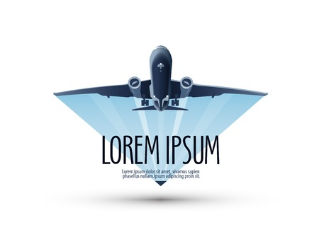 piloto de avion: Aviones volando en el cielo. ilustración vectorial