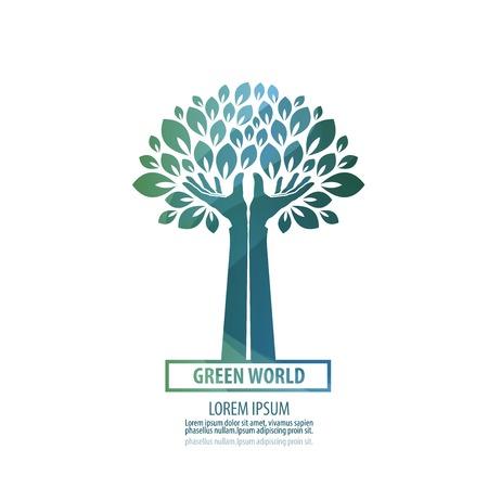 grün: stilisierten Baum auf einem weißen Hintergrund. Vektor-Illustration Illustration
