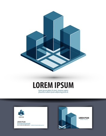 bulding: abstract construction of buildings on white background. vector illustration