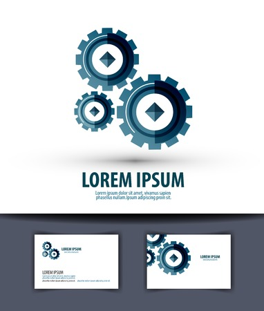Abstract mechanism on white background. vector illustration Vector