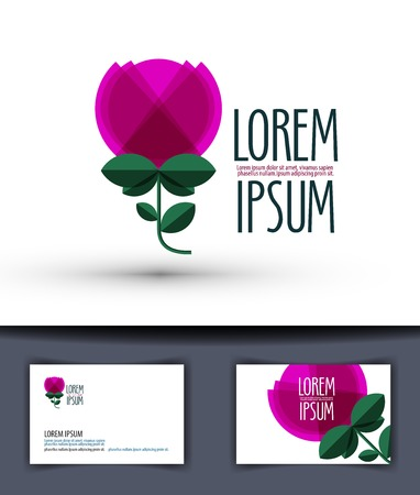 stigma: Abstract rose on white background. vector illustration