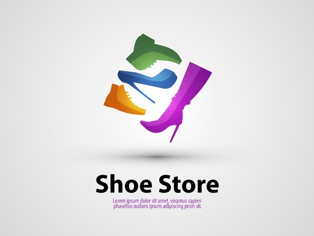 insoles: Abstraction. shoes on a gray background. vector illustration