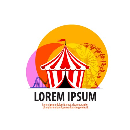 Circus tent on a white background. vector illustration Vector
