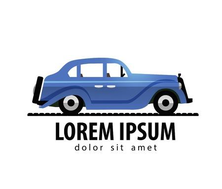 Vintage car on white background. vector illustration Vector