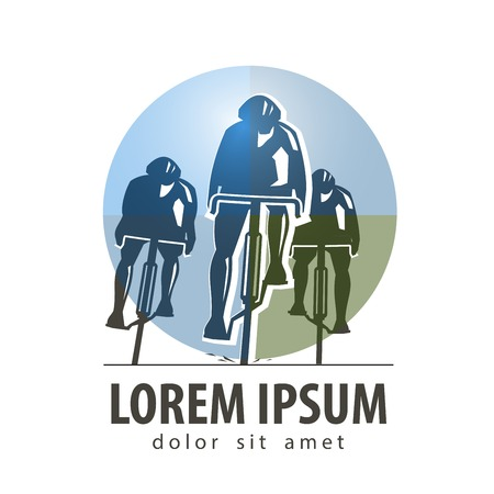 Sport. cycling on a white background. vector illustration