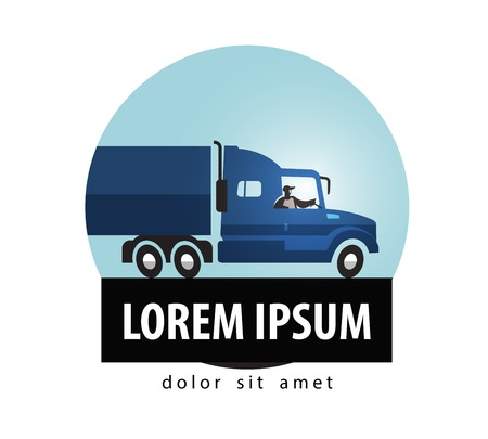 trucking: Trucking. truck on a white background. vector illustration Illustration