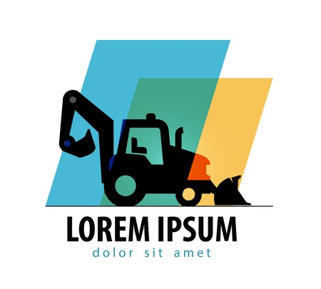 construction. tractor on a white background. vector illustration Vector