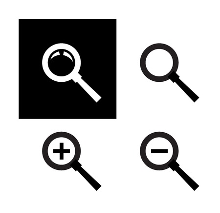 circumference: collection. a magnifying glass on a white background. vector illustration Illustration