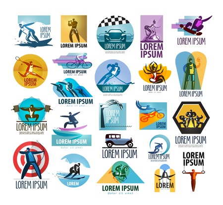 sport man: a large collection of sports and a gym on a white background. vector illustration Illustration