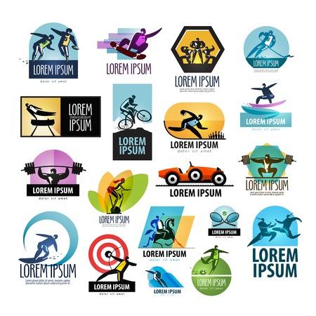 symbol sport: eine gro�e Sammlung von Sport-und Fitness-Studio auf einem wei�en Hintergrund. Vektor-Illustration Illustration