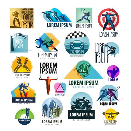 swimmer: a large collection of athlete and sports on a white background. vector illustration Illustration