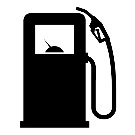 octane: Icon. gas station on a white background. vector illustration