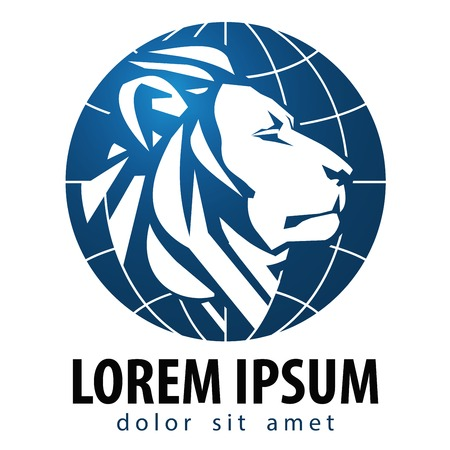 Abstract lion on a white background. vector illustration Illustration
