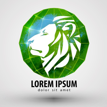 lion head on a white background. vector illustration