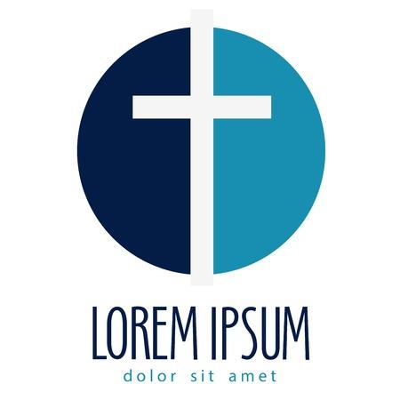 baptism: la religi�n. crucifixi�n en un fondo blanco. ilustraci�n vectorial