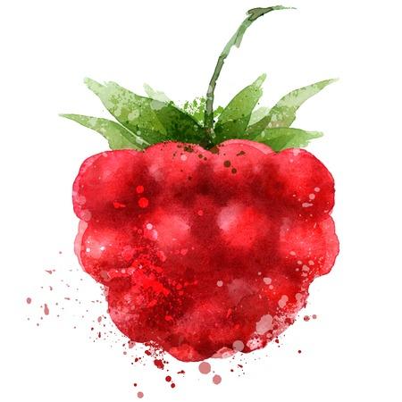 Berry Vektor-Logo-Design-Vorlage. Raspberry oder Lebensmittel-Symbol.