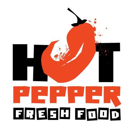 hete peper op een witte achtergrond. vector illustratie