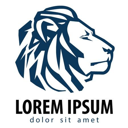 company background: Leone su uno sfondo bianco. illustrazione vettoriale