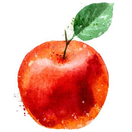 Red Apple op een witte achtergrond. vector illustratie