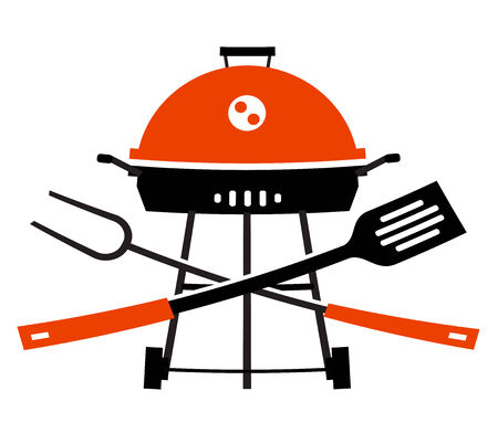 barbecues: image of utensils for barbecues on the white background Stock Photo