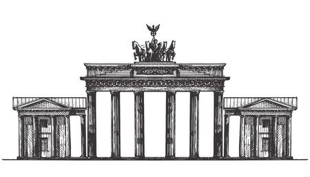de schets. de architectuur van Duitsland, op een witte achtergrond. vector illustratie
