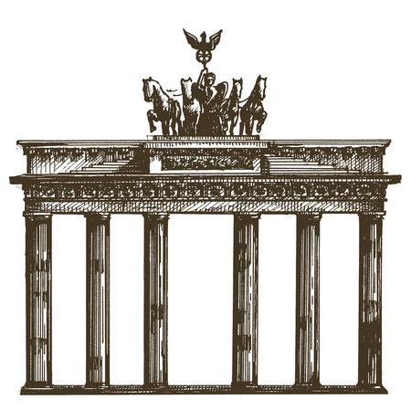 schets. architectuur van Duitsland op een witte achtergrond. vector illustratie
