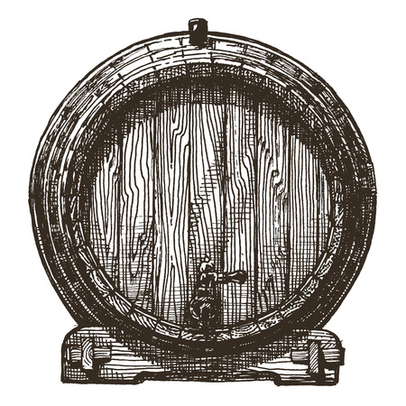 sketch. barrel on a white background. vector illustration