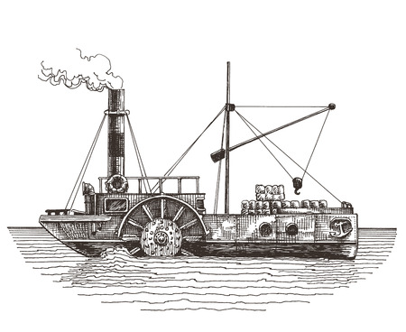 ship on a white background. vector illustration. sketch