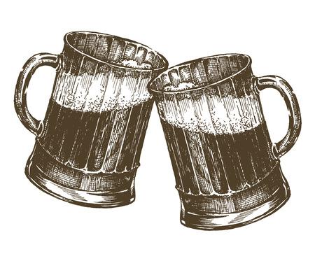 sketch. beer on a white background. vector illustration Vector