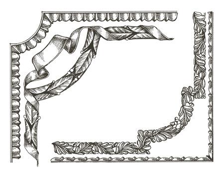 vintage frame on a white background. sketch