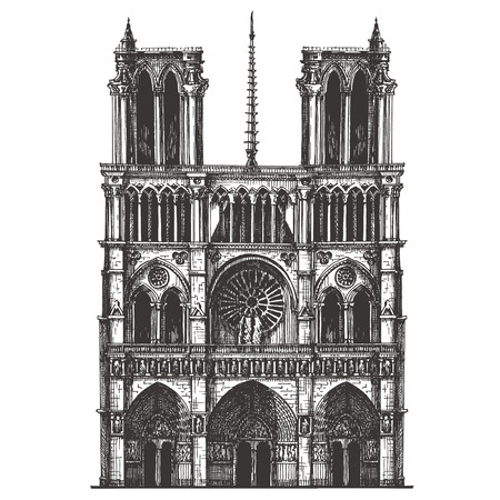 notre: architecture of France on a white background Stock Photo