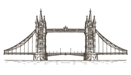 thames: sketch. the bridge on a white background Stock Photo