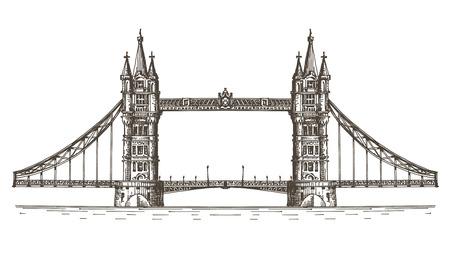 london bridge: sketch. the bridge on a white background Stock Photo