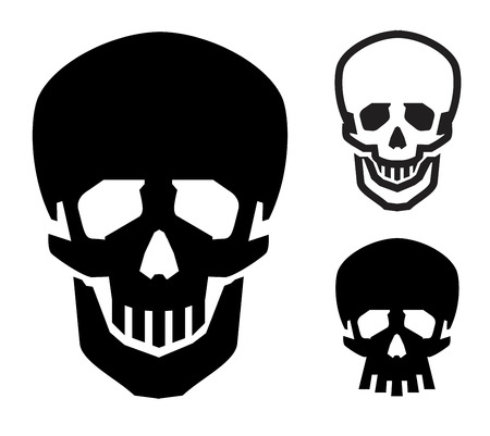 criminal activity: icon. human skull on a white background. vector illustration