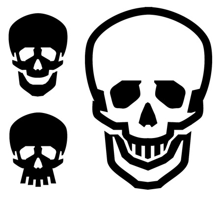 vector illustration. the skull on a white background. icons Vector