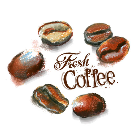 fresh coffee on a white background. vector illustration Vector