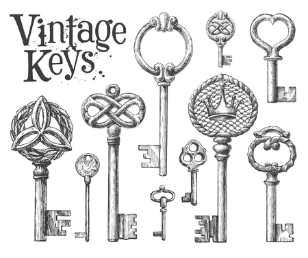 antiques: Antiques on white background. illustration, artwork Stock Photo