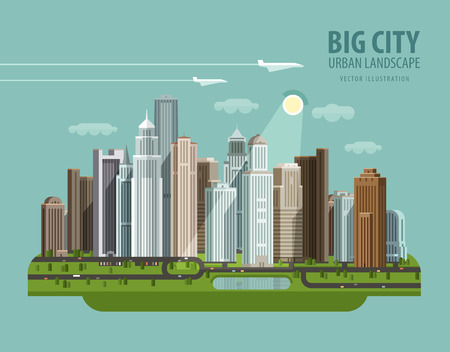 residential quarter and construction. vector. flat illustration