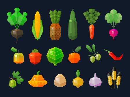 elote caricatura: colección de iconos de colores sobre el tema de la granja. vector. ilustración plana