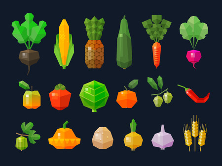 cultivation: collection of color icons on the theme of the farm. vector. flat illustration Illustration